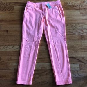 Pink, cropped chino capris from LOFT size 2P